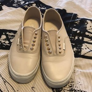 Cream leather vans